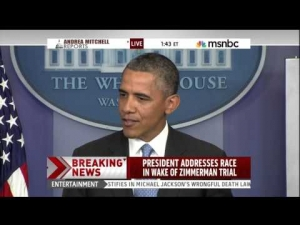 Racial Equity, Not Just a Theory: President Obama's Speech on the Trayvon Martin Verdict