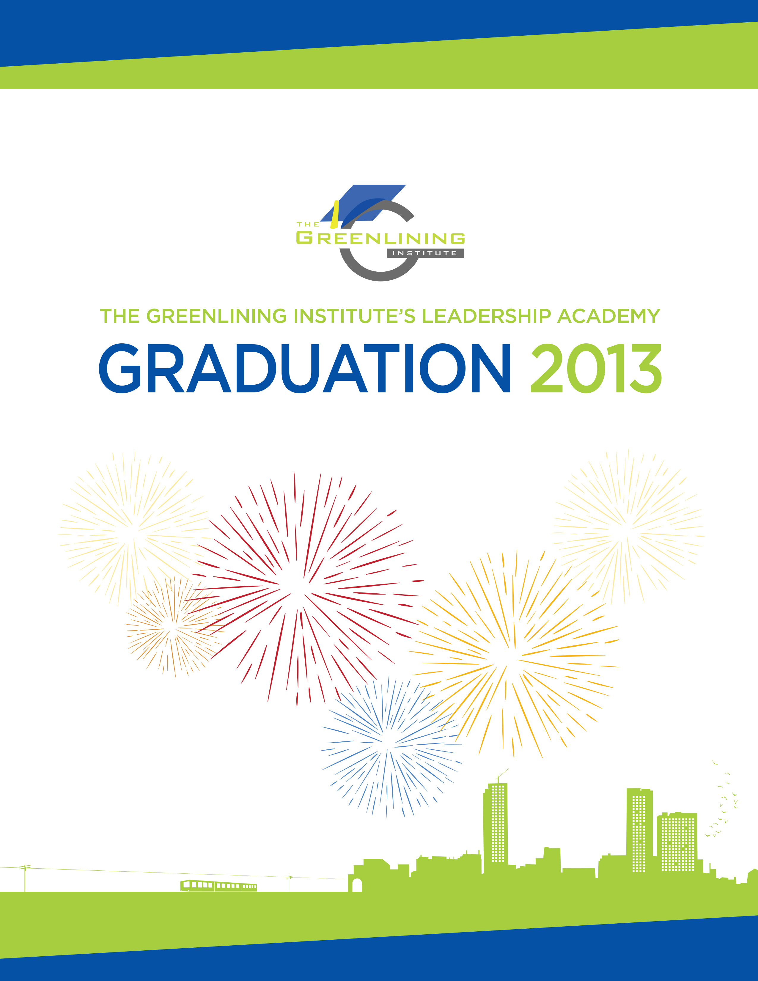 2013 Academy Graduation Program - The Greenlining Institute