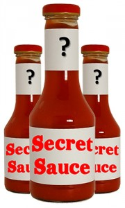Secret Sauce Illustration