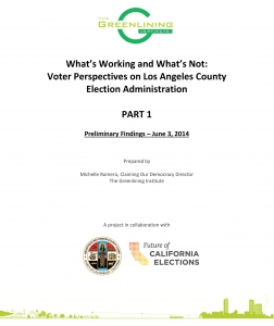 Microsoft Word - RESEARCH BRIEF_Voter Experience Survey Results_