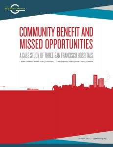 Community Benefit and Missed Opportunities