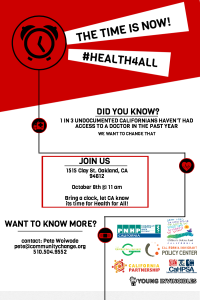 Health4All Bay Area Action Flyer - October 8
