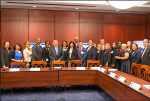 Senator Menendez with nation's top corporate diversity experts in a strategy session to discuss his report's findings. June 2, 2015.