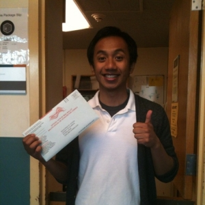 Proudly casting my ballot in 2012 for my first presidential election for President Obama.