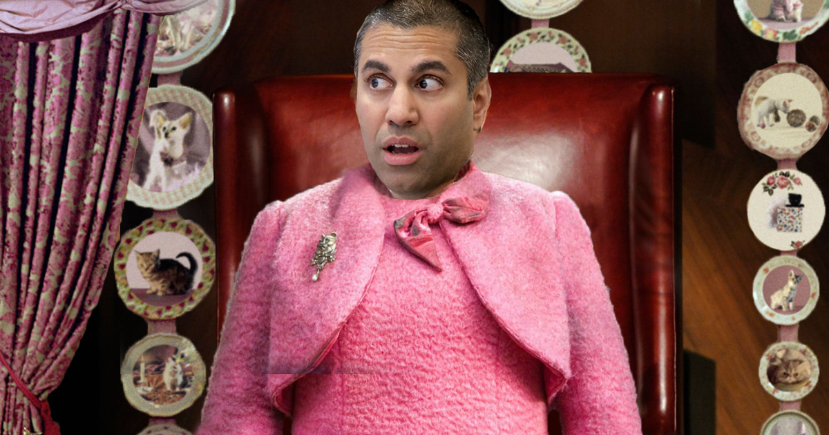 Net Neutrality - Ajit Pai as Dolores Umbridge