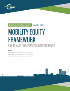 Mobility equity framework explains how to make transportation planning work for people and communities