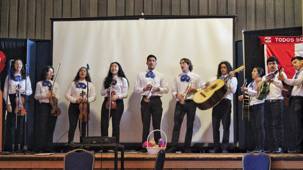 Mariachi Luz de Oro playing at Nuestrapalooza at UC Berkeley, 2018
