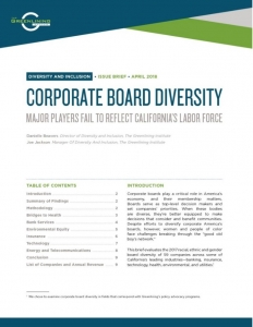 2017 Board Diversity Brief Cover