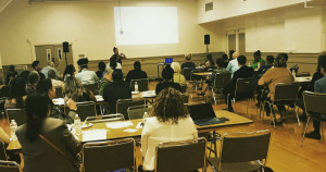 community sustainability meeting in Stockton, California