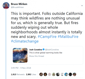 This tweet set the climate change denial faction aflame
