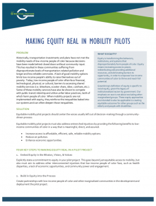 Four key steps to help mobility pilot projects prioritize the needs of low-income people of color who face barriers accessing shared mobility services.