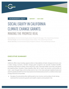 Social Equity in California Climate Change Grants
