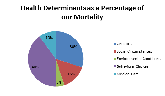 Note: Social circumstances, otherwise known as the social determinants of health, includes: education, employment, income, poverty, housing, crime, and social cohesion (as defined by the researchers). Source: http://content.healthaffairs.org/content/21/2/78.full.html