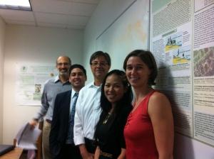 From Left to Right: Ken Alex; Roman Partida; Secretary Rodriguez; Vien Truong; Amy Vanderwarker