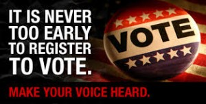 never too early to register to vote