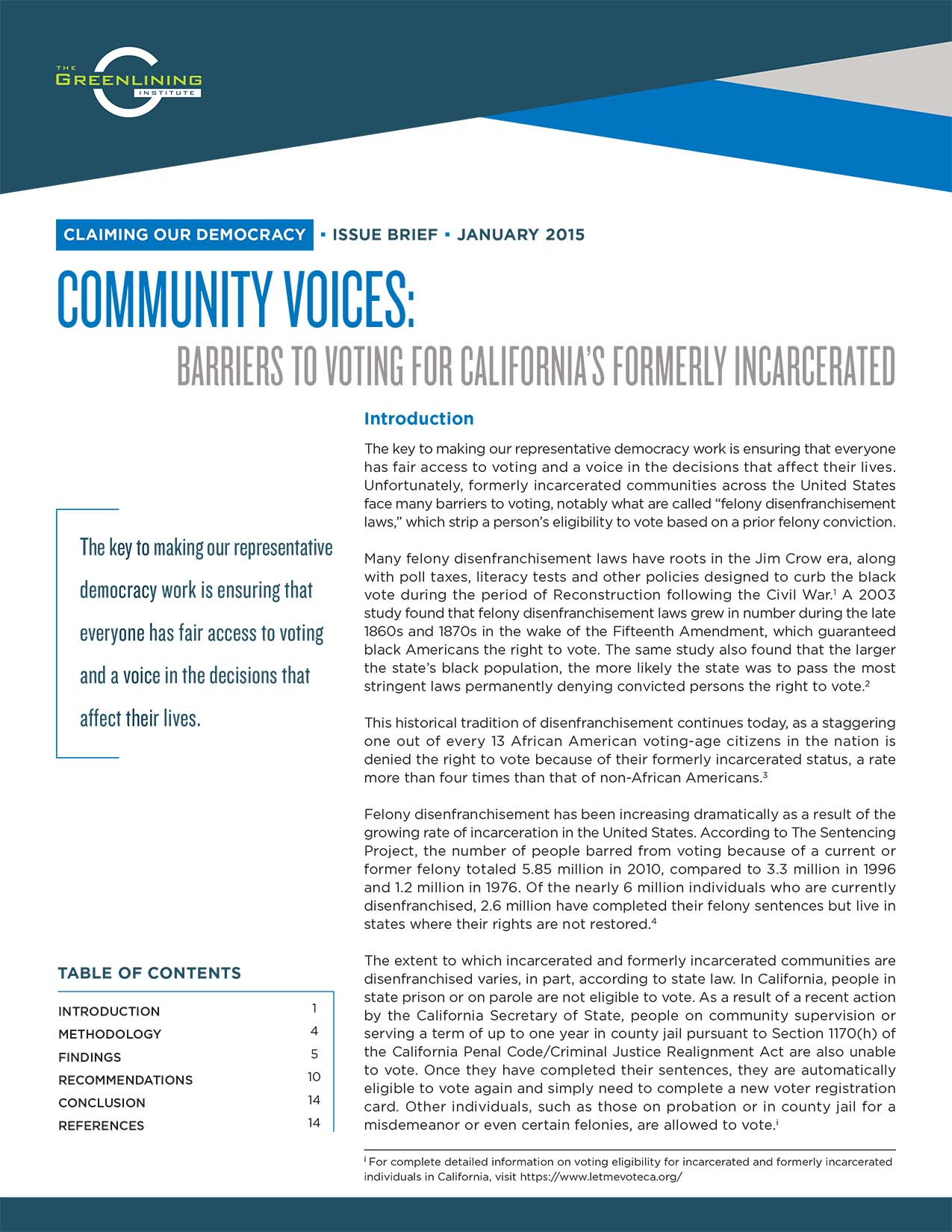 Community Voices: Barriers to Voting for California's Formerly Incarcerated