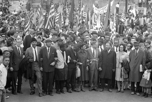 Dr. King leading the march in Selma (Image by Bettmann/Corbis)