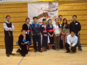 My work with youth continues after Hmong Women Circle ended. Here is a snap shot of us before performing a play at Valley High School in Elk Grove, CA. (2009)