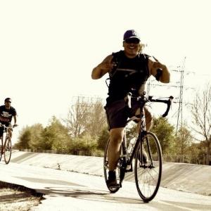 Biking along the San Gabriel River. Undocumented, Unafraid, y Unapologetic.  Photo Credit: Adrian Gonzalez.