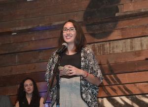 Kacey Hopson, 2016 Summer Associate delivering the Leadership Academy graduation speech.