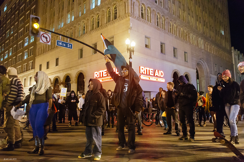 Black Lives Matter protest following the decision not to indict Darren Wilson