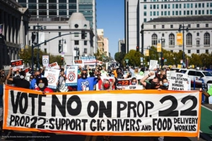 Ride-hailing drivers protest abuse of gig workers